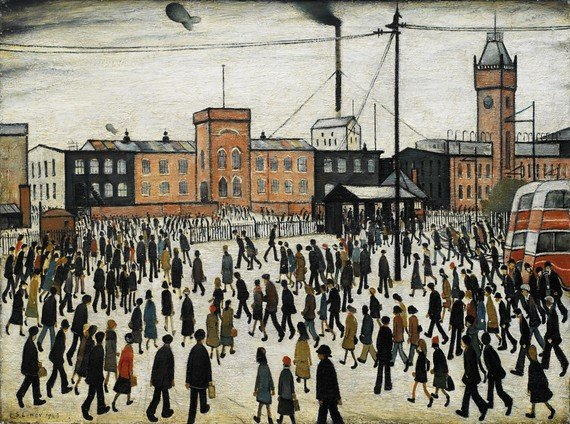 LS-Lowry-going-to-work-1943